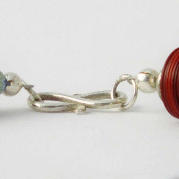 Halskette Rotes Horn - esperlt - Verschluss