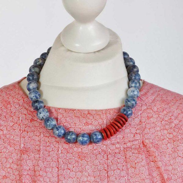 Maritimes Doppel - esperlt - Halskette Körperbild