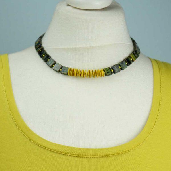 Halskette Grün-Gelb von esperlt