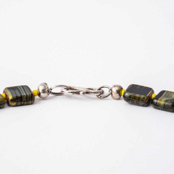 Halskette Grün-Gelb - esperlt - Verschluss