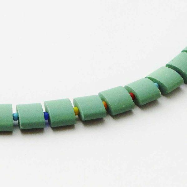 Halskette Grüne Keramik - esperlt - Detail