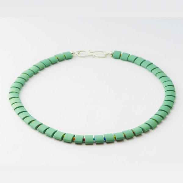 Grüne Keramik - Halskette von esperlt