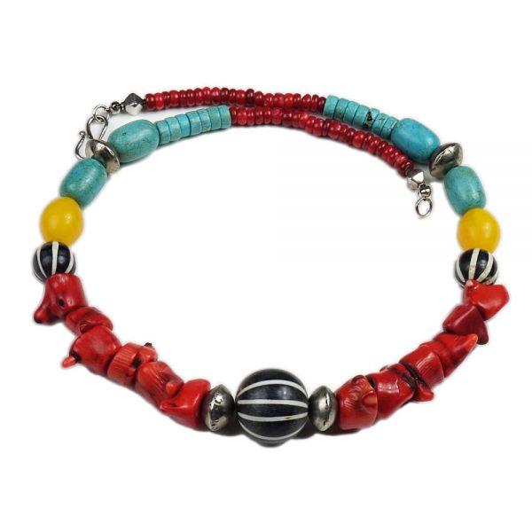 Halskette Afrikanische Farben von esperlt