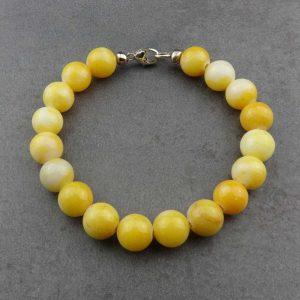Armband Jadeperlen Gelb von esperlt