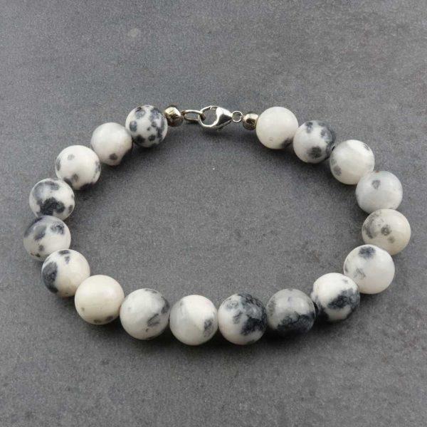 Armband Jadeperlen Schwarz-Weiß von esperlt