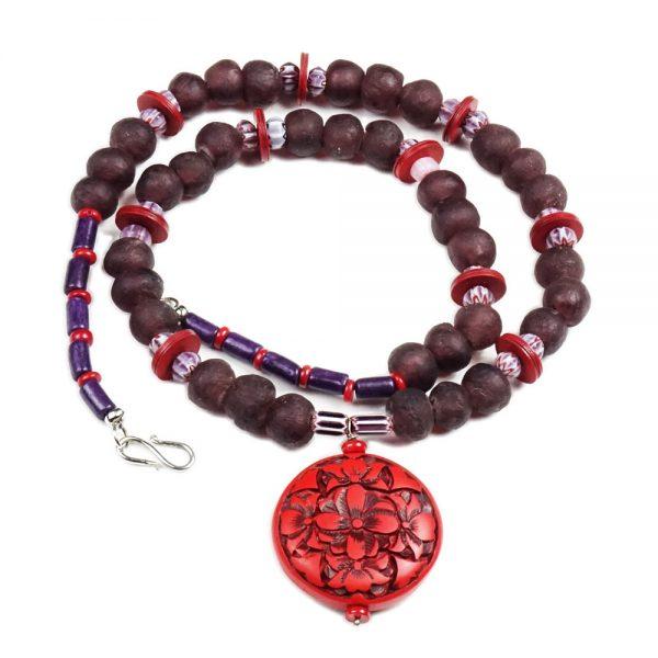 Halskette Aubergine trifft Rot von esperlt