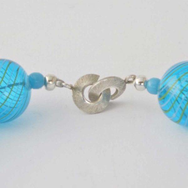 Halskette Blaue Glasperlen von esperlt - Verschluss