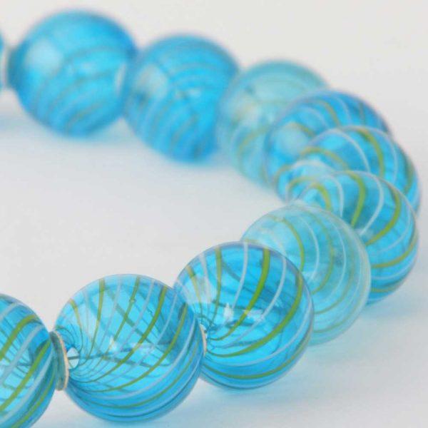 Halskette Blaue Glasperlen von esperlt - Detail