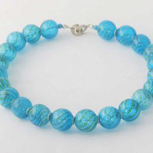 Halskette Blaue Glasperlen von esperlt