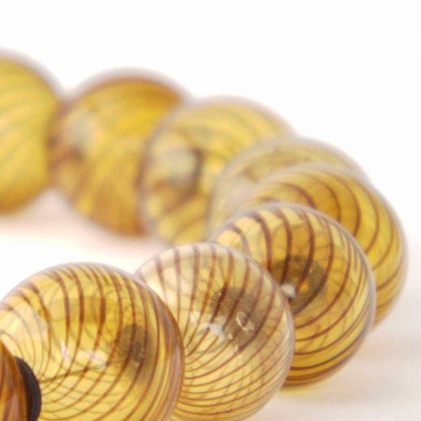 Halskette Braune Glaskugeln von esperlt - Detail