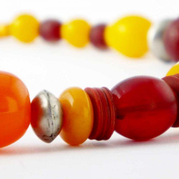Halskette Honigfarbene Harmonie von esperlt - Detail