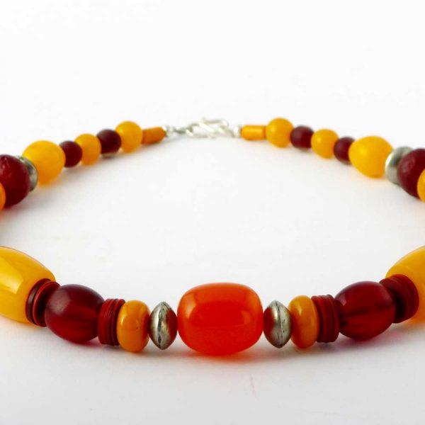 Halskette Honigfarbene Harmonie von esperlt