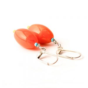 Ohrringe Glasoliven Orange von esperlt