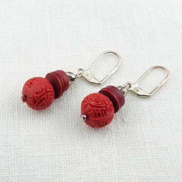Ohrringe Chinesisches Rot von esperlt