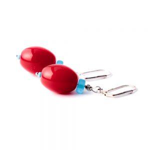 Ohrringe Glasoliven Rot von esperlt