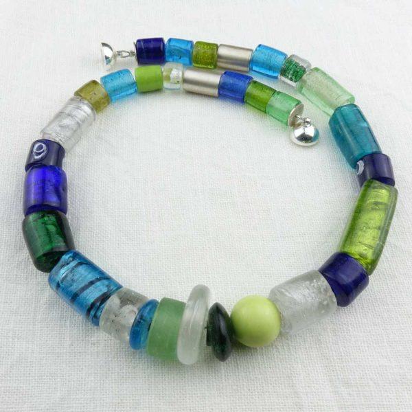 Halskette Buntes Glas von esperlt