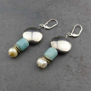 Ohrringe Silber trifft Natur von esperlt