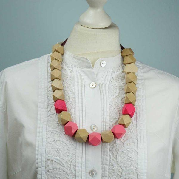 Halskette Natur trifft Pink von esperlt