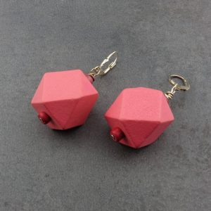 Ohrringe Rosa Polygone von esperlt