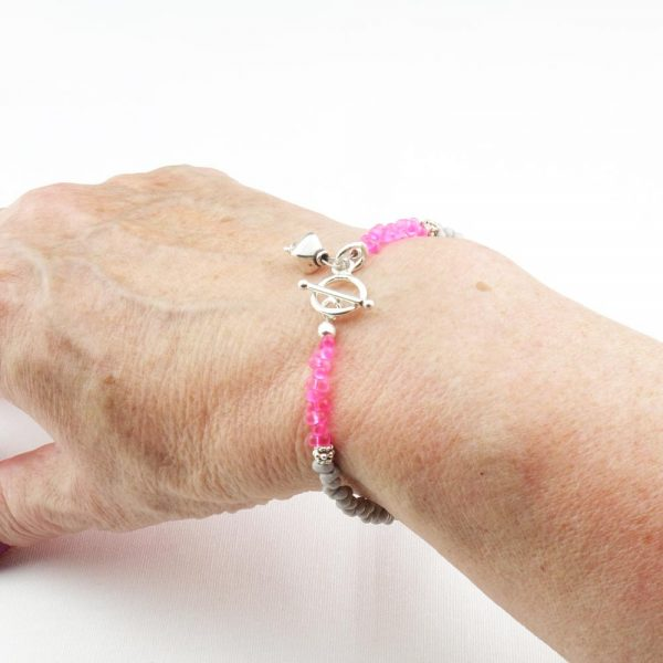 Armband Rosa Grau von esperlt